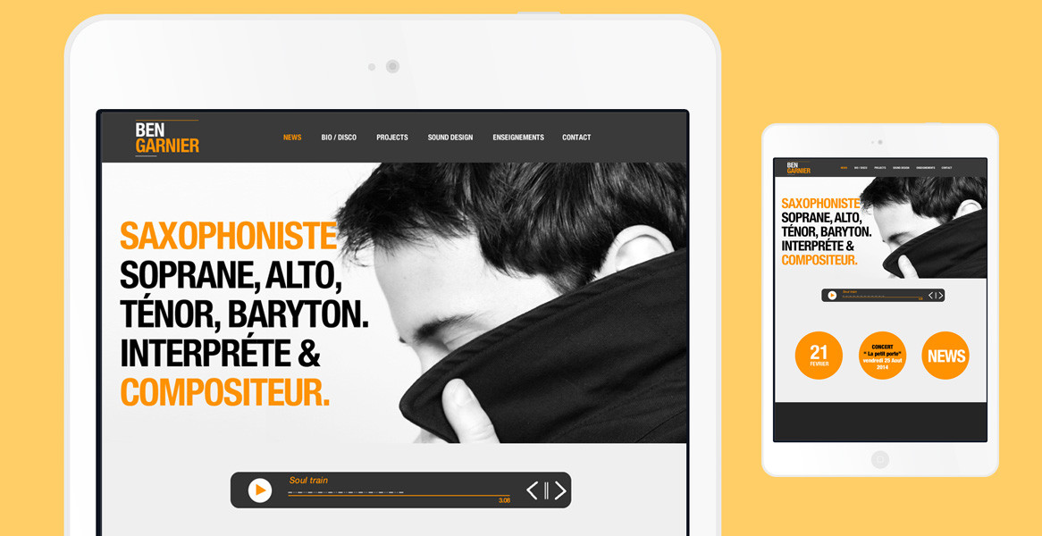 Ben GARNIER – WEBSITE DESIGN#0