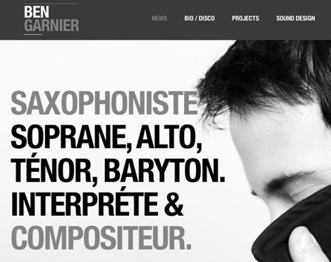 Ben GARNIER – WEBSITE DESIGN project